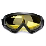 Windproof UV Resistant Ski Goggles Multi-functional Outdoor Sport Goggles (Yellow Lens)