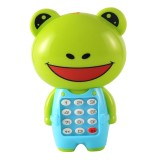 2 PCS Baby Electronic Toy Phone Children Animals Musical Mobile Phone Early Educational Toys for Baby Kids (Frog)