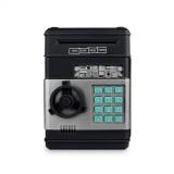 Electronic Piggy Bank ATM Password Money Coins Saving Box (Black)