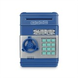 Electronic Piggy Bank ATM Password Money Coins Saving Box (Blue)