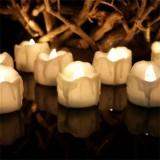 12 PCS/Box LED Candle Electronic Tea Wax Simulation Tears Electronic Candle Light Wedding Decoration Candle Light (Warm White)