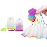 3 PCS Food-grade Silicone Tea Bags Colorful Style Tea Strainers Herbal Tea Infusers Filters Scented Tea Tools (Random Color)