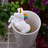 5 PCS Creative Unicorn Shape Silicone Tea Infuser Strainers Filter Tea Bag Leaf Herbal Spice Filter
