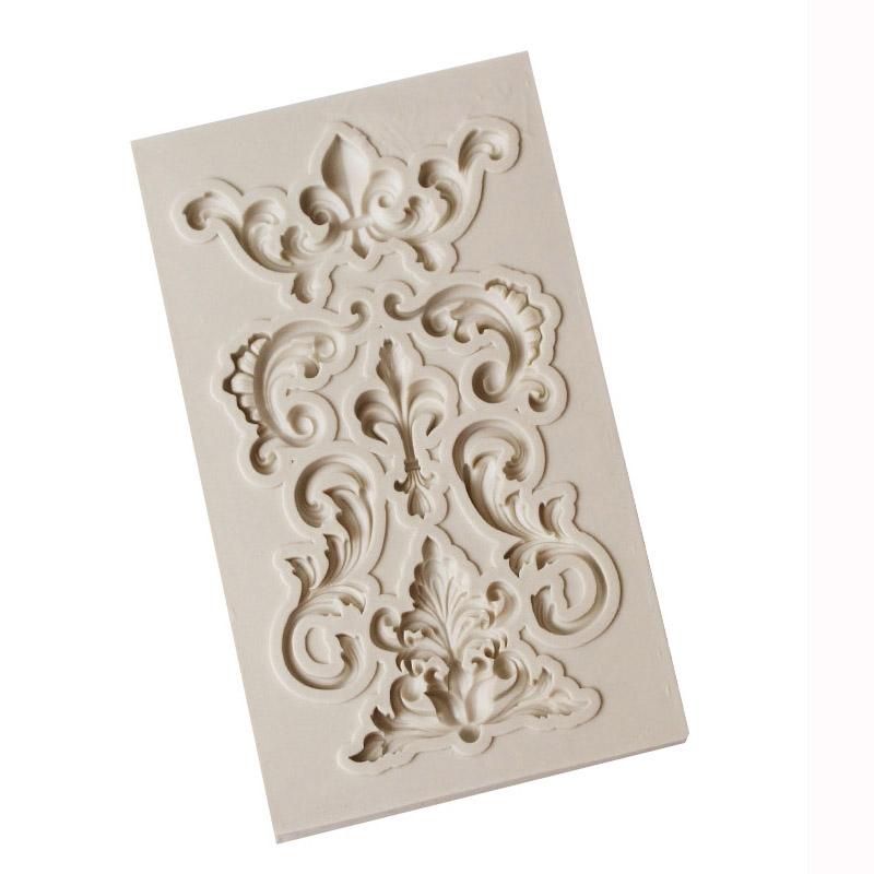 2 PCS Border Silicone Mold Fondant Mold Cake Decorating Tools Chocolate Mold (Grey)