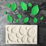 2PCS Sugarcraft Leaf Silicone Fondant Mold Cake Decorating Tools Chocolate Baking Mold