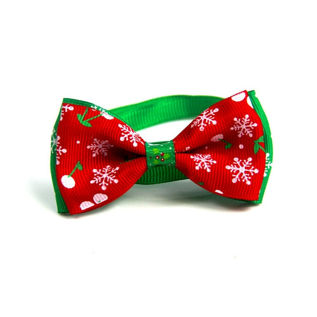 5 PCS Christmas Holiday Pet Cat Dog Collar Bow Tie Adjustable Neck Strap Cat Dog Grooming Accessories Pet Product (8x4x15cm)