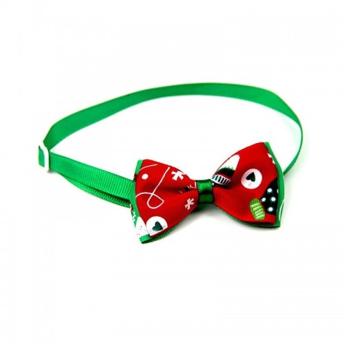 5 PCS Christmas Holiday Pet Cat Dog Collar Bow Tie Adjustable Neck Strap Cat Dog Grooming Accessories Pet Product (7)