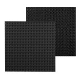 32*32 Small Particle DIY Building Block Bottom Plate 25.5*25.5 cm Building Block Wall Accessories Toys for Children (Black)