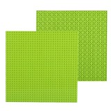 32*32 Small Particle DIY Building Block Bottom Plate 25.5*25.5 cm Building Block Wall Accessories Toys for Children (Light Green)
