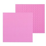32*32 Small Particle DIY Building Block Bottom Plate 25.5*25.5 cm Building Block Wall Accessories Toys for Children (Pink)