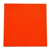 32*32 Small Particle DIY Building Block Bottom Plate 25.5*25.5 cm Building Block Wall Accessories Toys for Children (Orange)