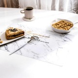 2 PCS Creative Insulation Pad Table Mat Western Table Nordic Cushion Waterproof Plate Bowl Cup Home Mat (Marble)