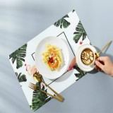 2 PCS Creative Insulation Pad Table Mat Western Table Nordic Cushion Waterproof Plate Bowl Cup Home Mat (Flamingo)