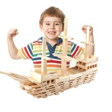 100 PCS / Set Wooden Architectural Model Building Blocks Puzzle Children Early Education Toys