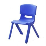 24cm Seat Height Safety Thicken Kindergarten Child Chair Small Stool Backrest Chair (Blue)