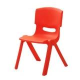 24cm Seat Height Safety Thicken Kindergarten Child Chair Small Stool Backrest Chair (Red)