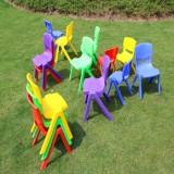 24cm Seat Height Safety Thicken Kindergarten Child Chair Small Stool Backrest Chair (Pink)