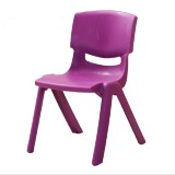 24cm Seat Height Safety Thicken Kindergarten Child Chair Small Stool Backrest Chair (Purple)