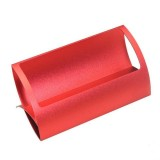 Creative Metal Card Holders Note Holders for Office Display Desk Business Card Holders Desk Accessories Stand Clip (Red)