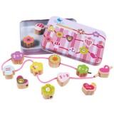 Wooden Toys Baby DIY Toy Cartoon Fruit Animal Stringing Threading Wooden Beads Toy (Girl)