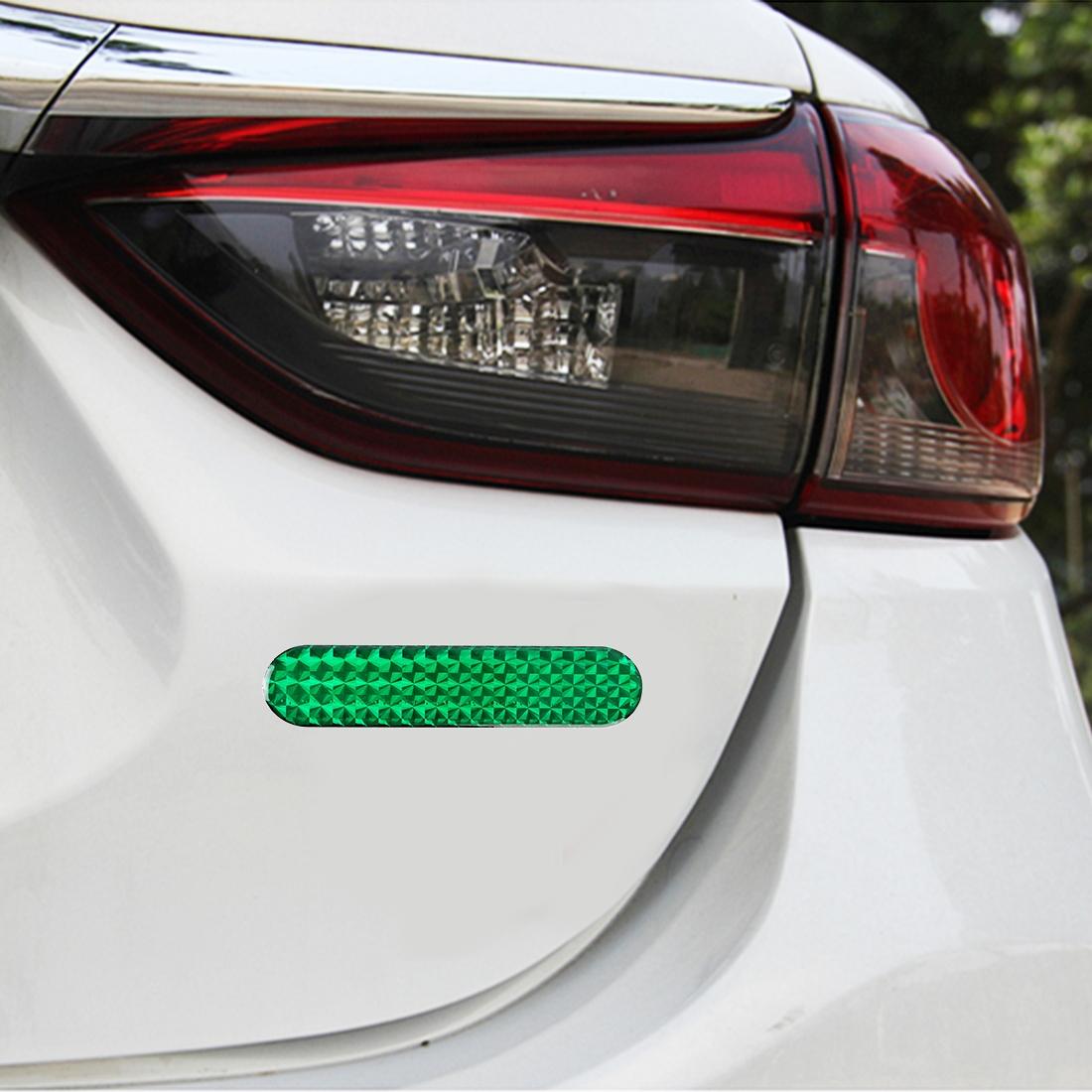 2 PCS High-brightness Laser Reflective Strip Warning Tape Decal Car Reflective Stickers Safety Mark (Green)