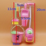 Furniture Toys Miniature House Cleaning Tool Doll House Accessories for Doll House Pretend Play Toy 6 PCS / Set