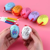 4 PCS Handmade Cartoon Painted Easter Eggs Children's Educational Toys, Random Pattern and Color