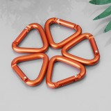 10PCS Triangle Carabiner Outdoor Camping Hiking Keychain Snap Clip Hook Kettle Buckle Carabiner Accessories