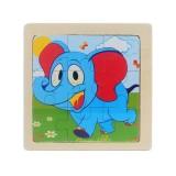 3 PCS Kids Wooden Cartoon Puzzle Jigsaw Toy Early Educational Toys (Elephant)
