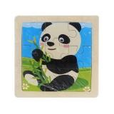 3 PCS Kids Wooden Cartoon Puzzle Jigsaw Toy Early Educational Toys (Panda)