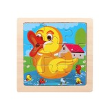 3 PCS Kids Wooden Cartoon Puzzle Jigsaw Toy Early Educational Toys (Duck)