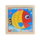 3 PCS Kids Wooden Cartoon Puzzle Jigsaw Toy Early Educational Toys (Fish)