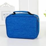 Waterproof Pencil Case 72 Color Large Capacity Sketch Pencil Bag Stationery Set (Blue)