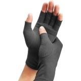 Half Finger Cycling Gloves Arthritis Pressure Health Gloves High Elastic Breathable Anti-edema Rehabilitation Riding Glov, Size: L (Gray)