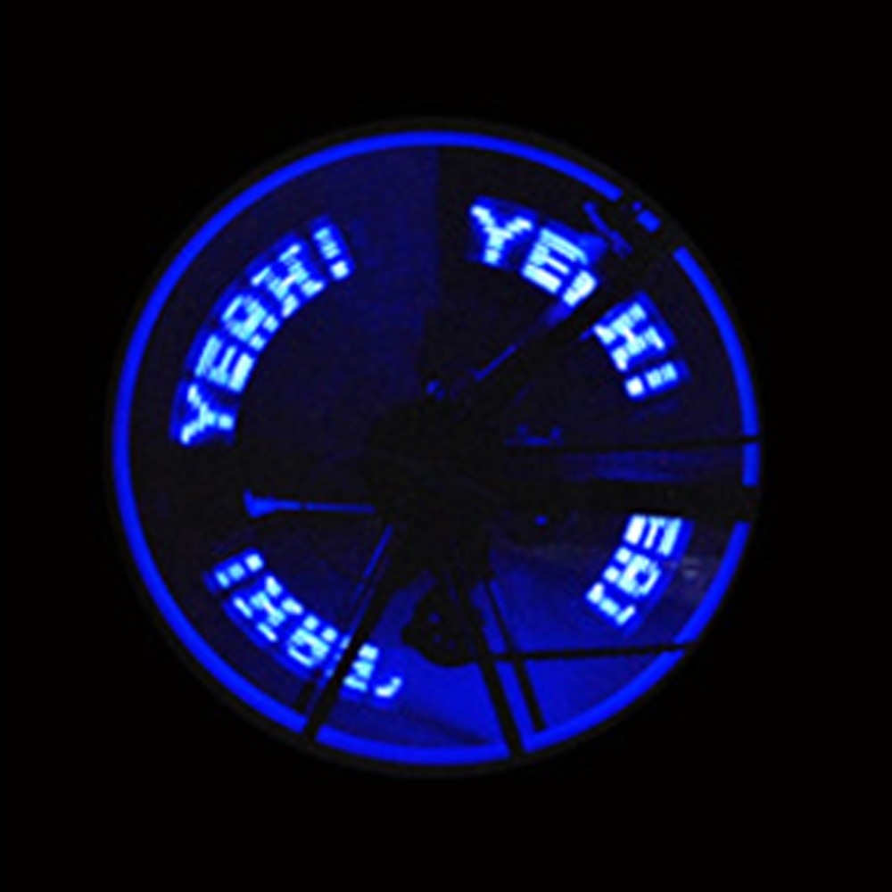 Double-side Bicycle Wheel Spoke LED Lights Lamps Cycle Tyre Tire Wheel Valve 7 LED Flash Light (Blue)