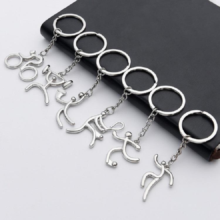 3 PCS Creative Metal Sport Shape Keychain Bag Pendant Small Gift, Style: Basketball (Bright Nickel)