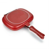 Household Pan Double Side Grill Fry Pan Cookware Double Face Pan (28cm)