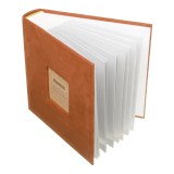 N55078 7 inch 50 Pages for 200 PCS Photos Velvet Face Album Insert Type Album Storage Book (Orange)