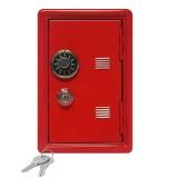 2 PCS Creative Piggy Bank Password Money Box Cash Coins Saving Box (Red)