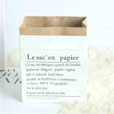 Kraft Paper Bag Gift Bags For Artificial Dried Flowers Vase Home Decorations, Size: 30x13x50cm (White French)