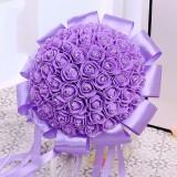 Bride Holding Bouquet Creative Simulation Holding Bouquet Wedding Supplies (Purple)