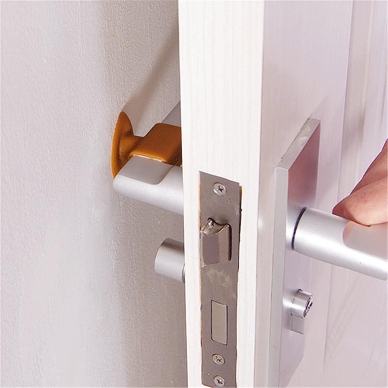 3 PCS Mute Crash Pad Cushion Cabinet Door Handle Lock Silicone Anti-collision House Door Stopper (Blue)