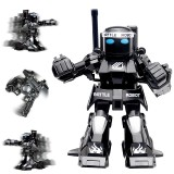 777-615 Battle RC Robot 2.4G Body Sense Remote Control Toys For Kids Gift Toy Model Mini Smart Robot Battle Toys For Boys (Black)
