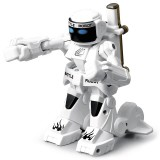 777-615 Battle RC Robot 2.4G Body Sense Remote Control Toys For Kids Gift Toy Model Mini Smart Robot Battle Toys For Boys (White)