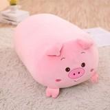 New Soft Animal Cartoon Pillow Cushion Cute Fat Dog Cat Totoro Penguin Pig Frog Plush Toy 60cm (pig)