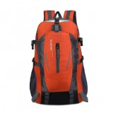 Large-capacity Travel Mountaineering Bag Men and Women Outdoor Sports Leisure Nylon Waterproof Backpack (Orange)