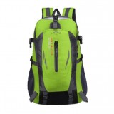 Large-capacity Travel Mountaineering Bag Men and Women Outdoor Sports Leisure Nylon Waterproof Backpack (Green)