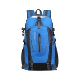 Large-capacity Travel Mountaineering Bag Men and Women Outdoor Sports Leisure Nylon Waterproof Backpack (Blue)