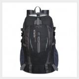 Large-capacity Travel Mountaineering Bag Men and Women Outdoor Sports Leisure Nylon Waterproof Backpack (Black)