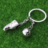 2 PCS Creative Football Gift Pendant Metal Football Shoe Keychain, Style: Football Shoes 389